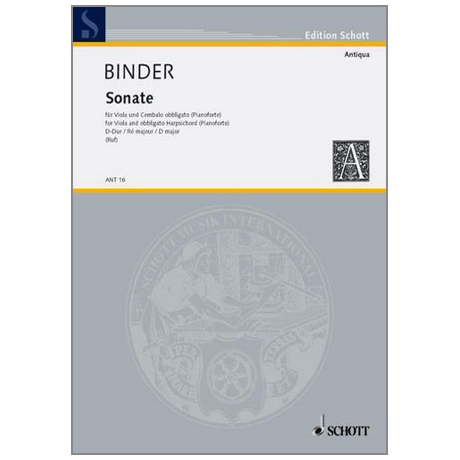 Binder, C. S.: Violasonate D-Dur