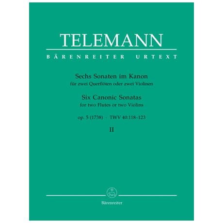 Telemann, G. Ph.: Sechs Sonaten im Kanon – Op. 5 Band 2 TWV 40: 118-120