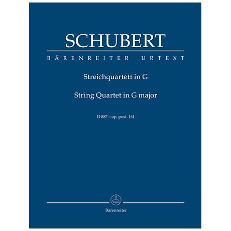 Schubert, F.: Streichquartett G-Dur Op. post. 161 D 887