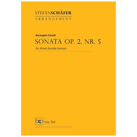 Corelli, A: Kontrabasssonate Op.2 Nr.5