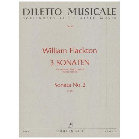 Flackton, W.: Violasonate 2 D-Dur