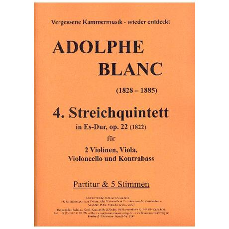 Blanc, A.: Quintett Nr. 4 Op. 22 Es-Dur