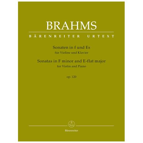 Brahms, J.: Violinsonaten Op. 120 f-Moll & Es-Dur