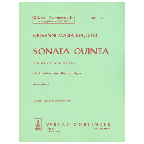 Ruggieri, G.M.: Sonata quinta g-Moll Op.3