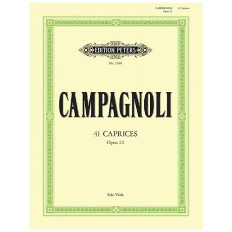 Campagnoli: 41 Capricen op. 22
