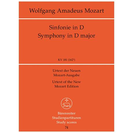 Mozart, W. A.: Sinfonie Nr. 23 D-Dur KV 181 (162b)