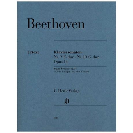 Beethoven, L. v.: Klaviersonate Nr. 9 E-Dur Op. 14,1 und Nr. 10 G-Dur Op. 14,2