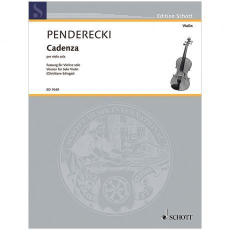 Penderecki, K.: Cadenza (1984)
