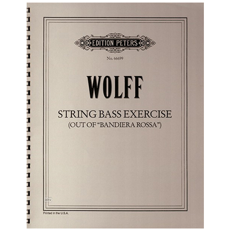 Wolff, Christian: String bass exercise out of Bandiera Rossa