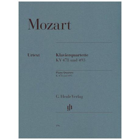 Mozart, W. A.: Klavierquartette g-Moll KV 478, Es-Dur KV 493 Urtext