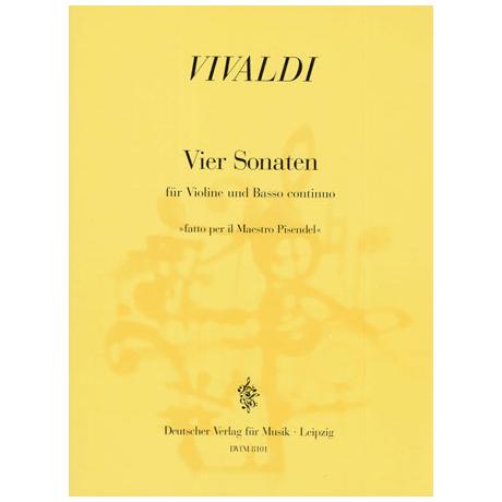 Vivaldi, A.: 4 Sonaten »Fatto per il maestro Pisendel«