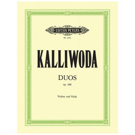 Kalliwoda, J.W.: 2 Duos Op. 208