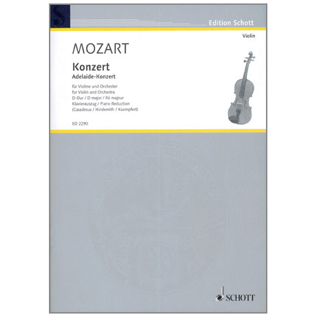 Mozart, W. A.: Violinkonzert D-Dur (Adelaide)