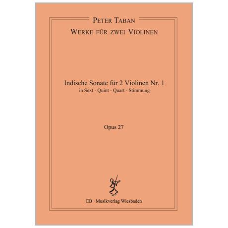 Taban, P.: Indische Duo-Sonate Nr. 1 Op. 27
