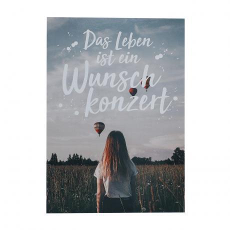 Postkarte Das Leben ist ein Wunschkonzert