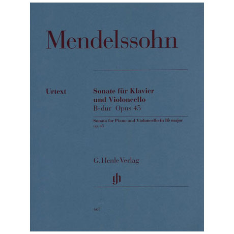 Mendelssohn Bartholdy, F.: Violoncellosonate Nr. 1 Op. 45 B-Dur