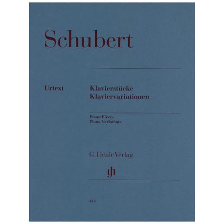 Schubert, F.: Klavierstücke, Klaviervariationen