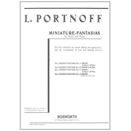 Portnoff, L.: Russische Fantasie in e-Moll Nr. 4
