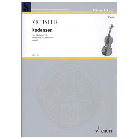 Kreisler: Kadenzen zum Violin-Konzert op. 61 von Beethoven