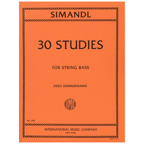 Simandl, Franz: 30 Studies for the Development of Tone