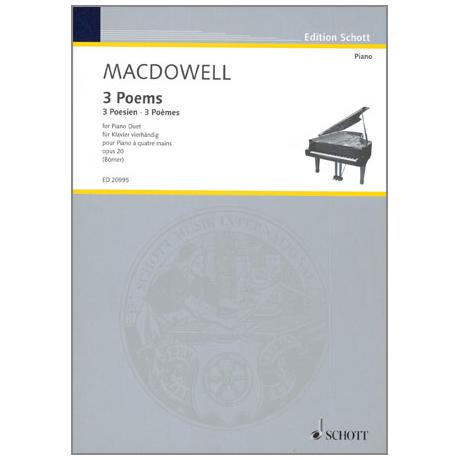 MacDowell, E.: 3 Poems Op.20