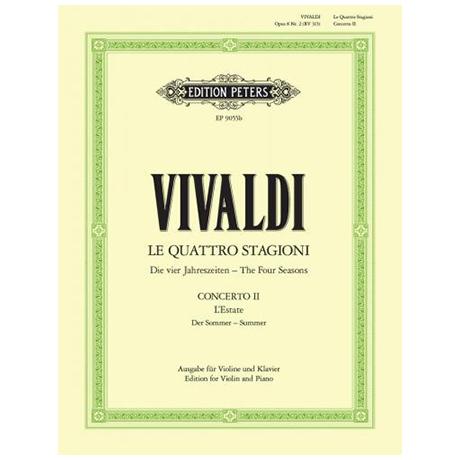 Vivaldi, A.: Violinkonzert Op. 8/2 RV 315 g-Moll »Der Sommer«