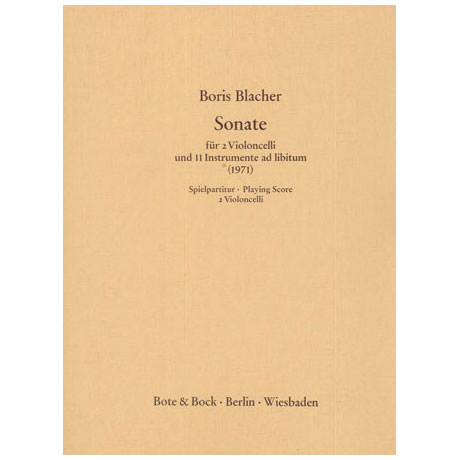 Blacher, B.: Sonate