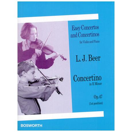 Beer, L.J.: Concertino e-moll Op.47