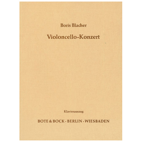 Blacher, B.: Violoncellokonzert