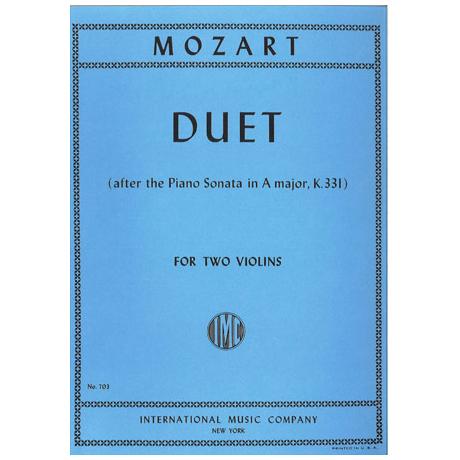 Mozart, W.A.: Duett in A-Dur KV 331