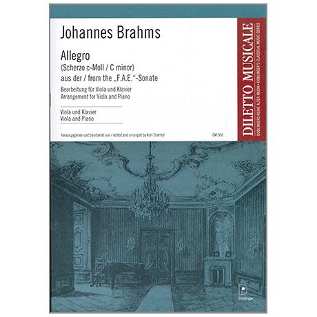 Brahms, J.: Scherzo, aus der »F.A.E.«-Sonate c-moll