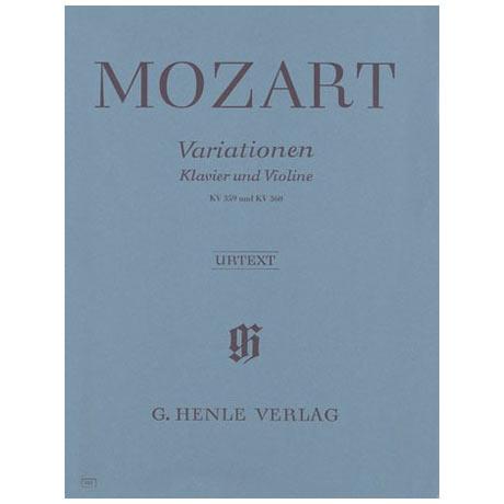 Mozart, W. A.: Variationen für Klavier und Violine KV 359 & 360