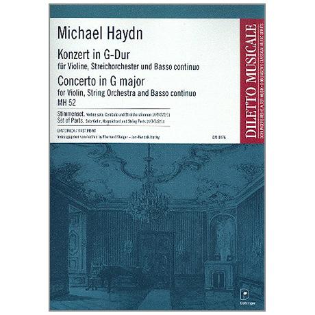 Haydn, M.: Konzert für Violine und Streichorchester MH 52 G-Dur