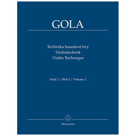 Gola: Violintechnik Band 2
