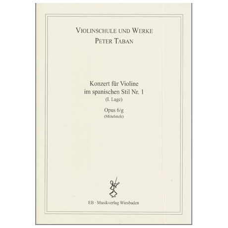 Taban, P.:  Violinkonzert im spanischen Stil Nr. 1 Op. 6/g