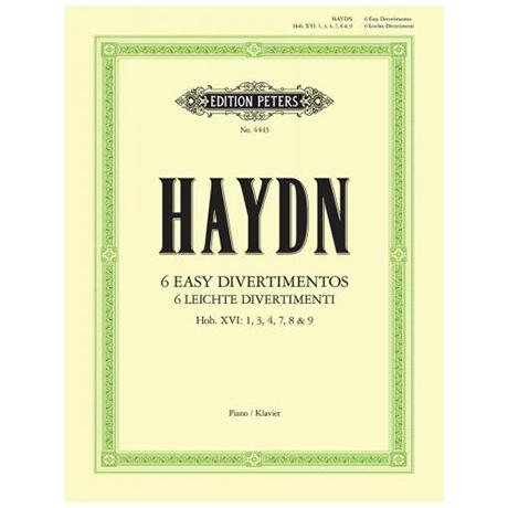 Haydn, J.: 6 leichte Divertimenti (Sonaten)
