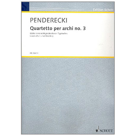 Penderecki: Quartetto per archi no. 3