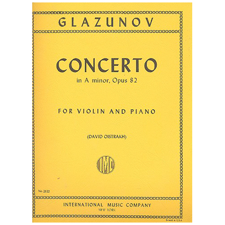 Glasunow, A.: Violinkonzert Op. 82 a-Moll (Oistrach)
