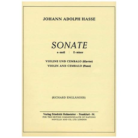 Hasse, J.A.: Sonate e-Moll
