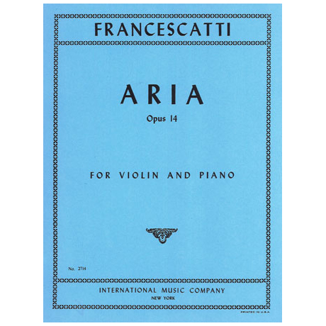Francescatti, Z.: Aria op. 14