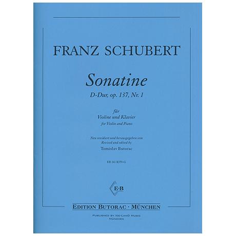 Schubert, F.: Sonatine Op. 137 Nr. 1 D-Dur