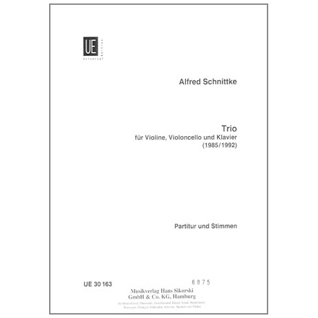 Schnittke, A.: Klaviertrio