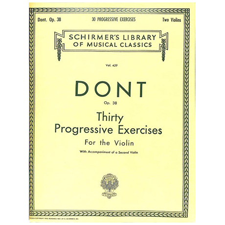 Dont, J.: 30 progressive Exercises for the Violin Op. 38