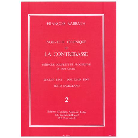 Rabbath, F.: Nouvelle technique de la contrebasse Vol.2