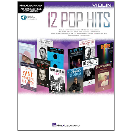 12 Pop Hits for Violin (+Online Audio)
