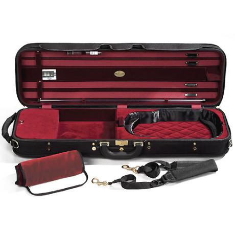 Jakob WINTER Luxury Geigenkasten 4/4 | schwarz/rot