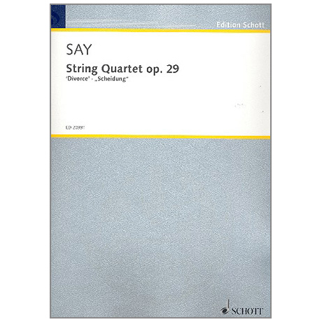 Say. F.: String Quartet op. 29