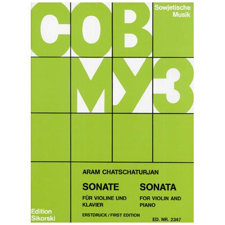 Chatschaturjan, A.: Sonate Nr. 1