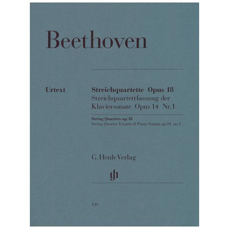 Beethoven, L.v.: Streichquartette Op. 18/1-6 Op. 14,1 Urtext