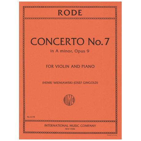 Rode: Concerto in a-moll Op.9 Nr.7